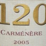 """Carménére 2005, Santa Rita """"120"""", Valle de Rapel, Čile"""