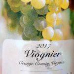 Viognier 2017, Horton Vineyards, Virginia, Spojené štáty