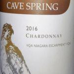 Chardonnay 2016, Cave Springs, VQA Niagara Escarpment, Ontario, Kanada