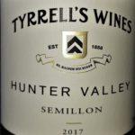 Semillon 2017, Tyrrell´s Wines, Hunter Valley, Austrália