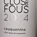 Clos des Fous 2014 Cauquenina, Itata Valley, Čile